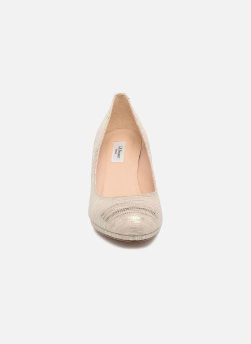 Escarpins L.K. Bennett New Sybila Or et bronze vue portées chaussures