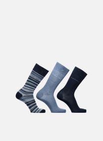 Gift Box chaussettes crew unies et rayures lot de 3