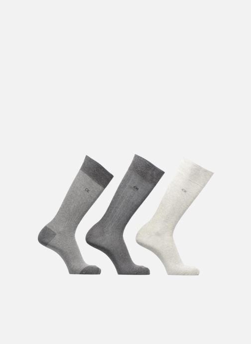 Chaussettes et collants Calvin Klein Chaussettes crew habillées pack de 3 Gris vue détail/paire