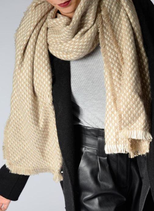 Sciarpa y foulard Esprit Dot structured scarf 65X200 Beige immagine dall'alto