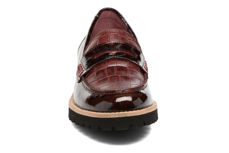 Mocassins HE Spring Lulu Bordeaux vue portées chaussures