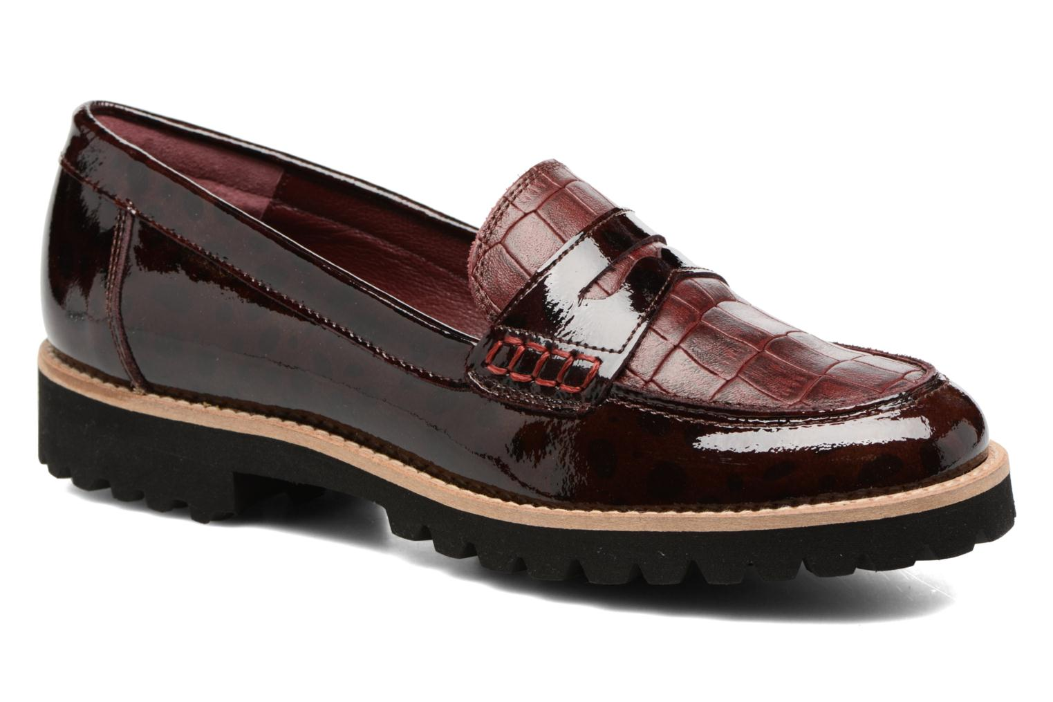 Loafers HE Spring Lulu Burgundy detailed view/ Pair view
