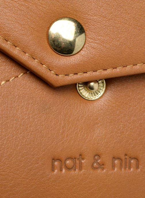 Petite Maroquinerie Nat & Nin Noa Marron vue gauche