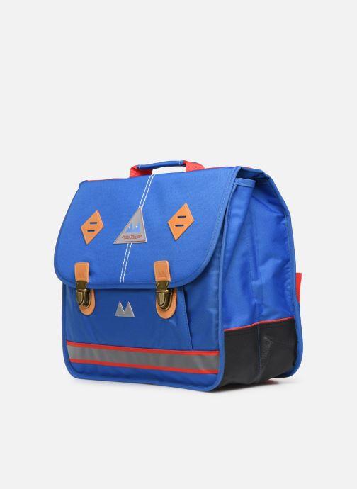 Per la scuola Poids Plume Cartable 38cm Visibility Azzurro modello indossato