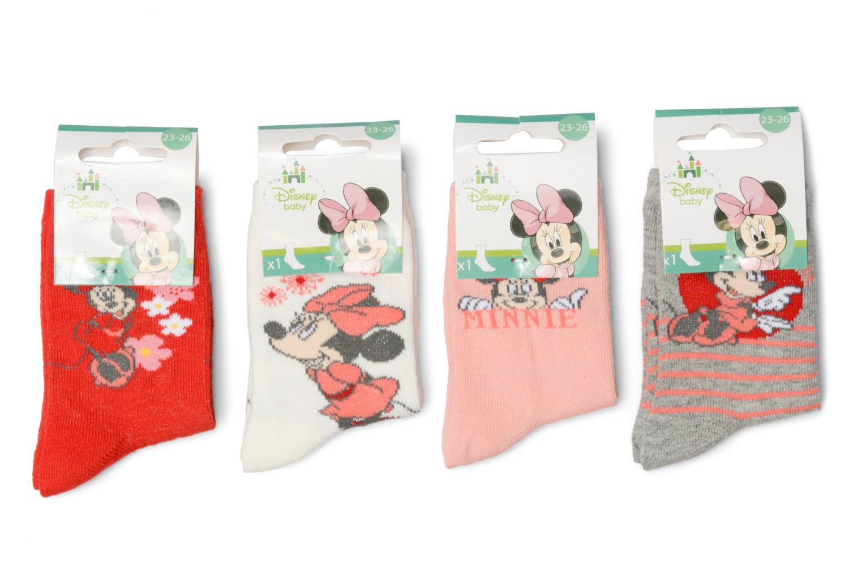 Chaussettes et collants Disney Chaussettes Lot de 4 Minnie Rouge vue détail/paire