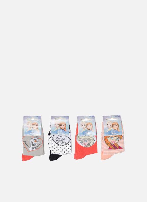 Chaussettes et collants Disney Chaussettes Lot de 4 La Reine des neiges Rouge  vue détail  ac1c329edce2