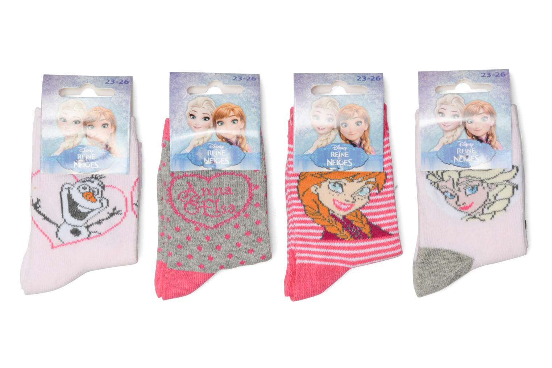 Sokken en panty's Disney Chaussettes Lot de 4 La Reine des neiges Roze detail