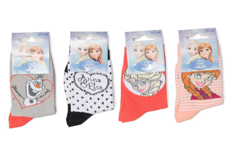Chaussettes et collants Disney Chaussettes Lot de 4 La Reine des neiges Rouge vue détail/paire