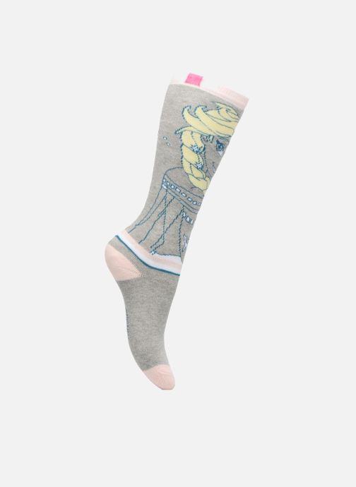 Sokken en panty's Disney Chaussettes Mi-Bas Bouclettes Elsa Grijs detail
