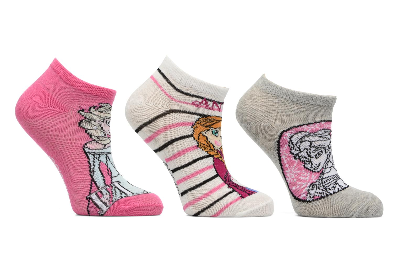 Sokken en panty's Disney Chaussettes Basses Lot de 3 Reine des neiges Multicolor detail