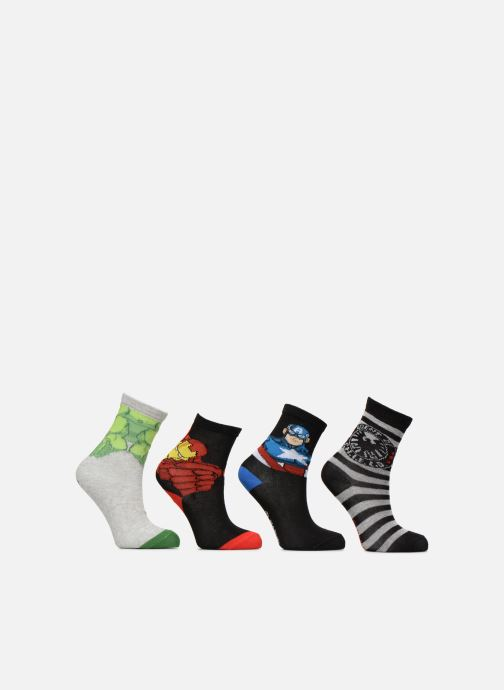 Sokken en panty's Disney Chaussettes Lot de 4 Avengers Zwart detail