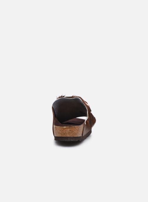 Pantofole Birkenstock Arizona Fur Marrone immagine destra