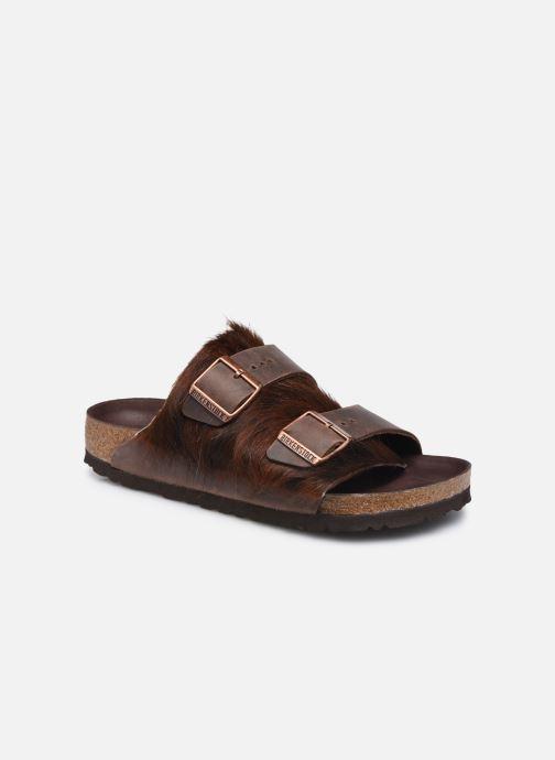Pantofole Birkenstock Arizona Fur Marrone vedi dettaglio/paio