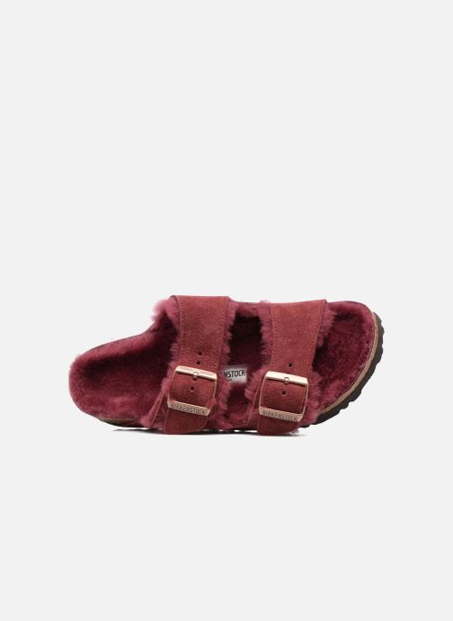 Pantoffels Birkenstock Arizona Sheepskin Bordeaux links