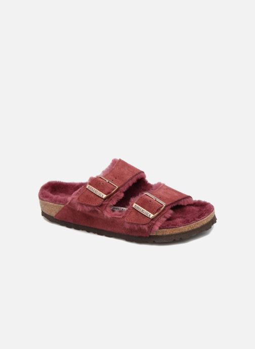Pantoffels Birkenstock Arizona Sheepskin Bordeaux detail