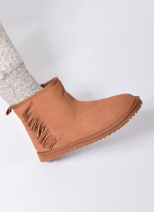 Bottines et boots Roxy Joyce Marron vue bas / vue portée sac