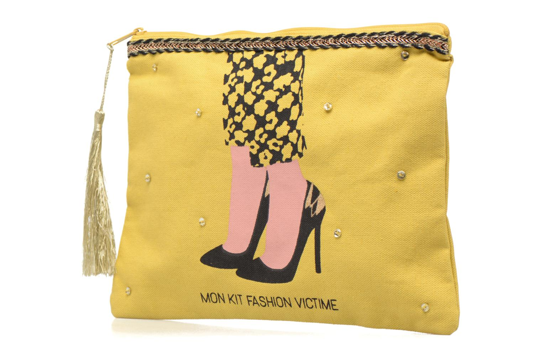 Petite Maroquinerie Petite mendigote Pochette Kit de Survie Jaune vue portées chaussures