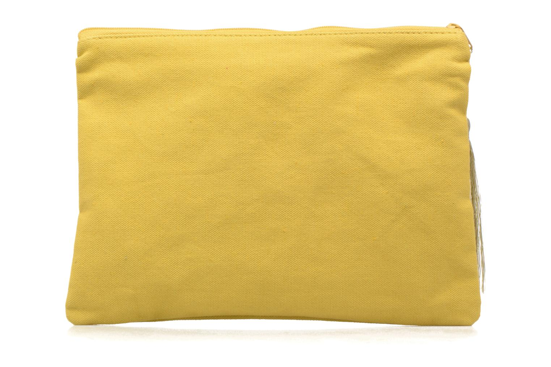 Petite Maroquinerie Petite mendigote Pochette Kit de Survie Jaune vue face