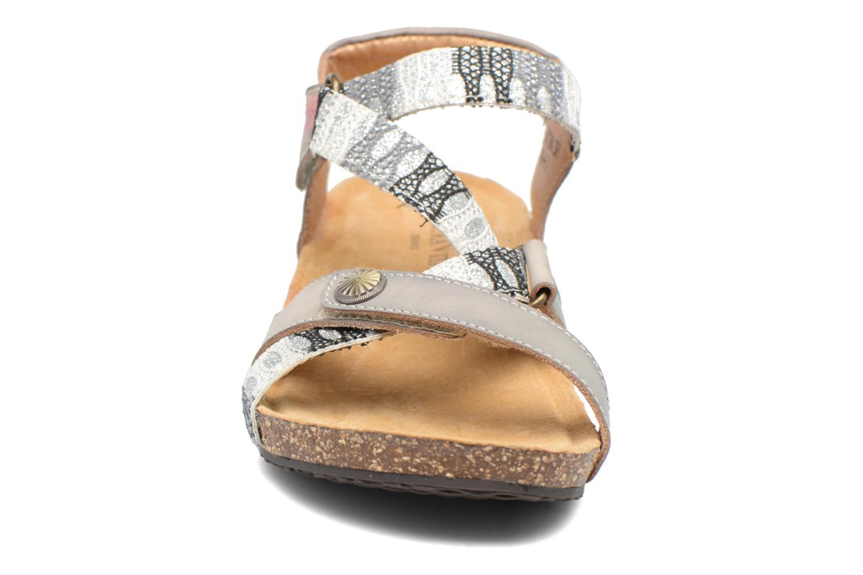 Sandales et nu-pieds Laura Vita Valentina Gris vue portées chaussures