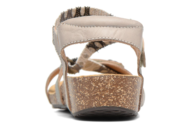 Sandales et nu-pieds Laura Vita Valentina Gris vue droite
