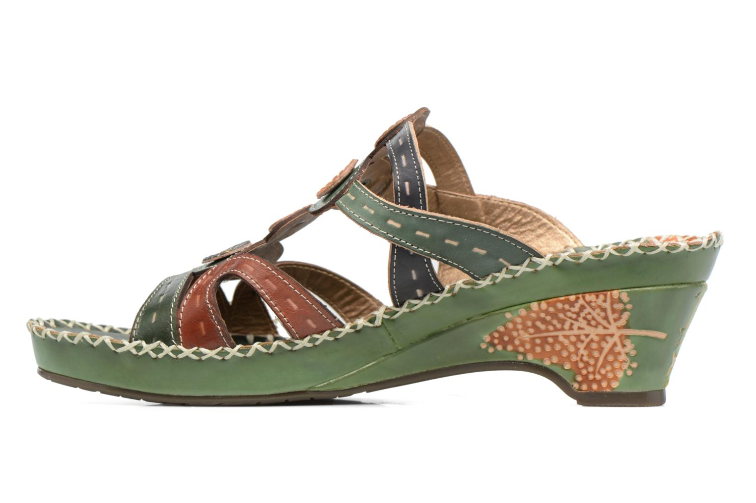 Mules & clogs Laura Vita Vana Green front view