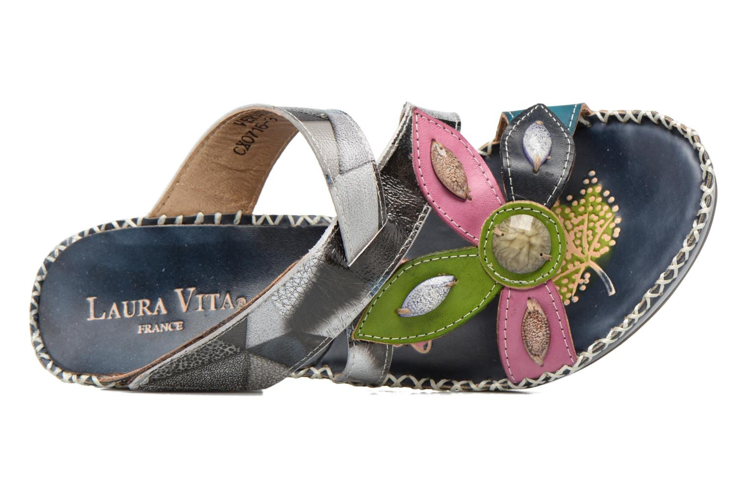 Mules & clogs Laura Vita Vernon Blue view from the left