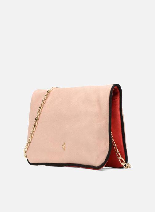 Handbags Menbur Crossbody suède Beige model view