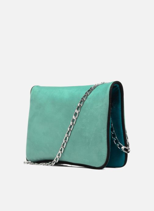 Handbags Menbur Crossbody suède Blue view from the right