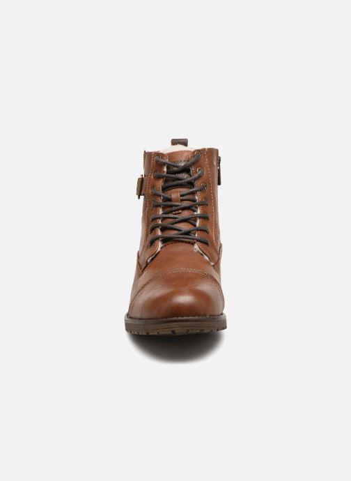 Bottines et boots Mustang shoes Valedi Marron vue portées chaussures