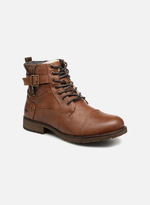Boots en enkellaarsjes Mustang shoes Valedi Bruin detail