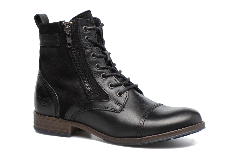 Bottines et boots Mustang shoes Maburgat Noir vue détail/paire