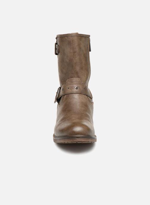 Bottines et boots Mustang shoes Ellogua Marron vue portées chaussures