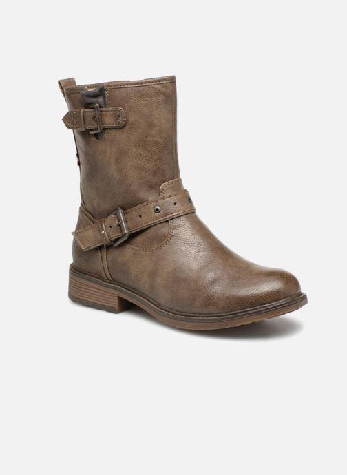 Bottines et boots Mustang shoes Ellogua Marron vue détail/paire