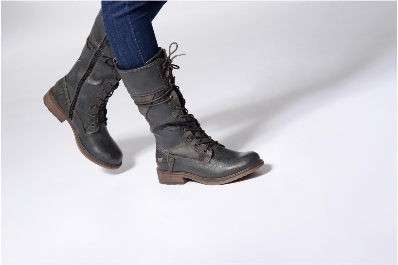 Bottines et boots Mustang shoes Plipse Gris vue bas / vue portée sac