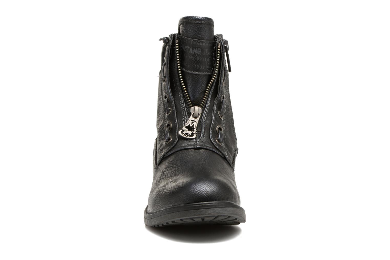 Bottines et boots Mustang shoes Madaner Bleu vue portées chaussures