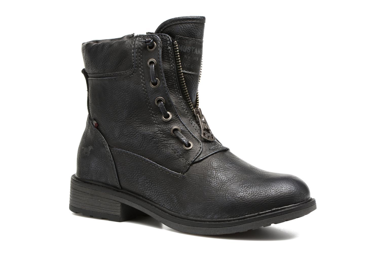 Bottines et boots Mustang shoes Madaner Bleu vue détail/paire
