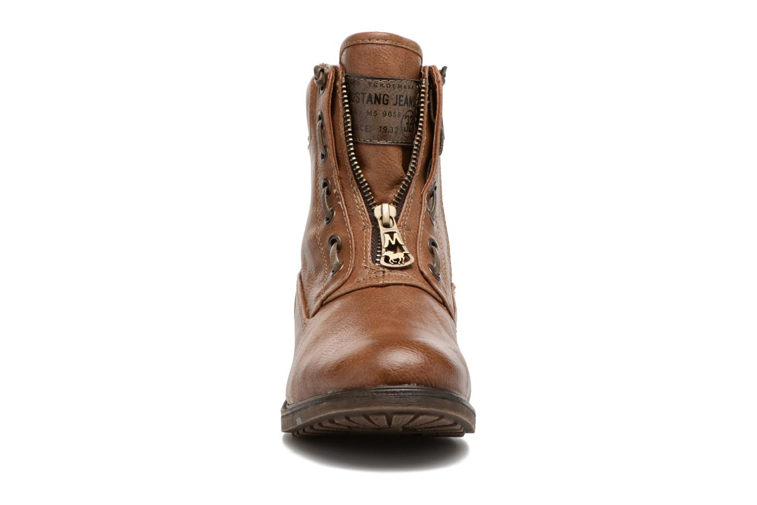 Ankle boots Mustang shoes Madaner Brown model view
