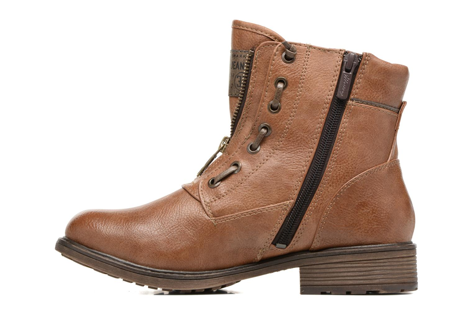 Ankle boots Mustang shoes Madaner Brown front view