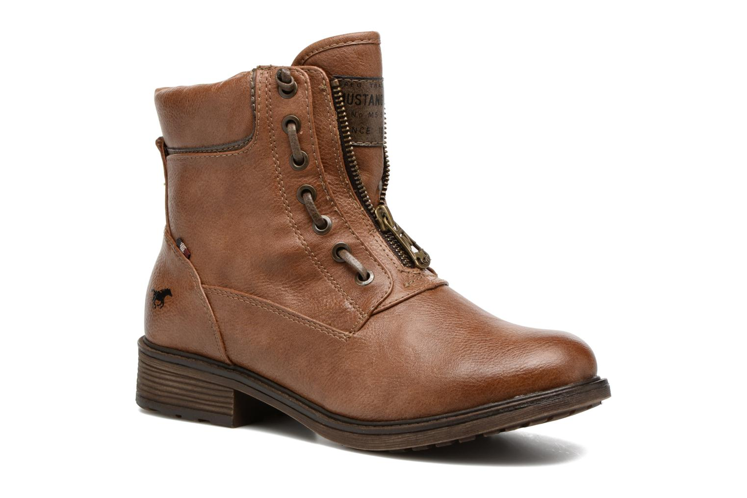 Ankle boots Mustang shoes Madaner Brown detailed view/ Pair view