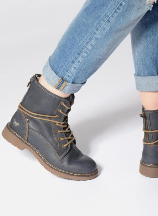 Ankle boots Mustang shoes Pierlau Brown view from underneath / model view