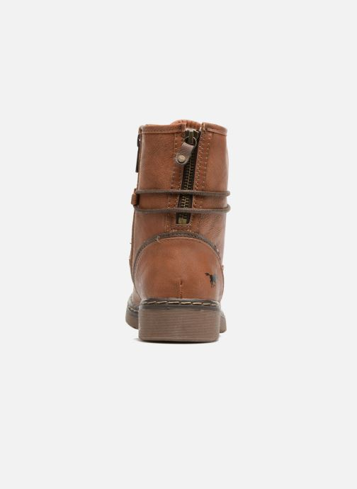 Ankle boots Mustang shoes Pierlau Brown view from the right