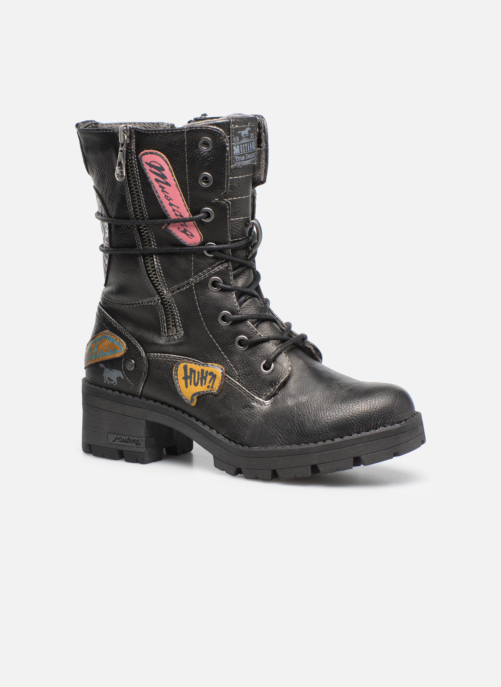 Bottines et boots Mustang shoes Galfir Argent vue détail/paire
