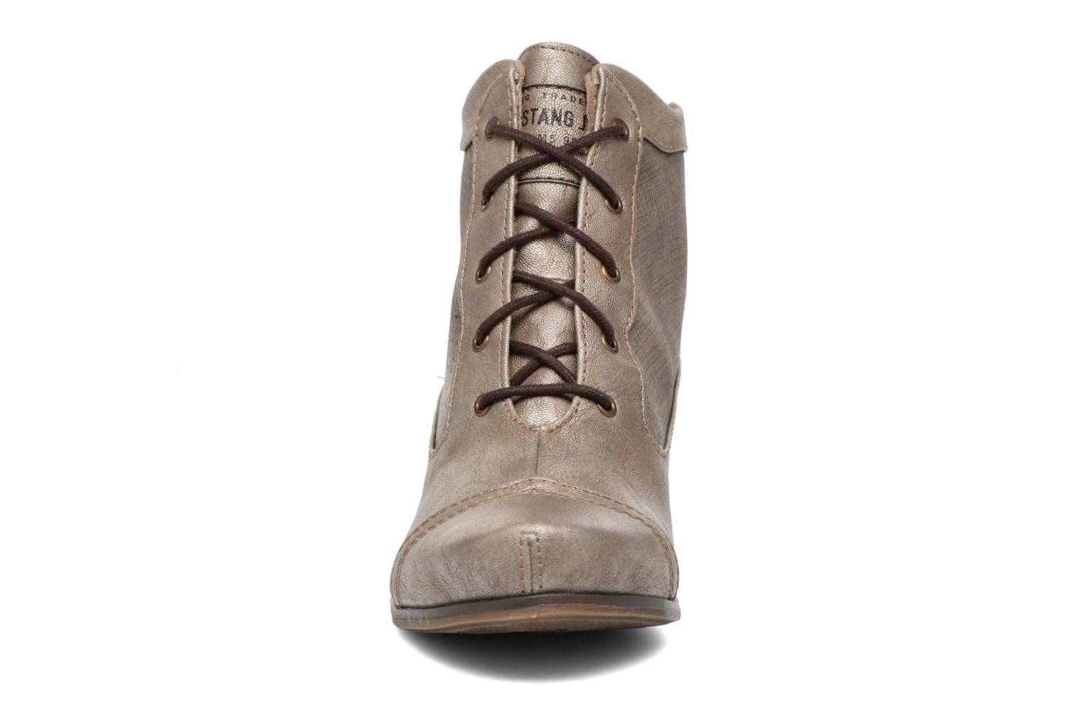 Ankle boots Mustang shoes Foltar Bronze and Gold model view