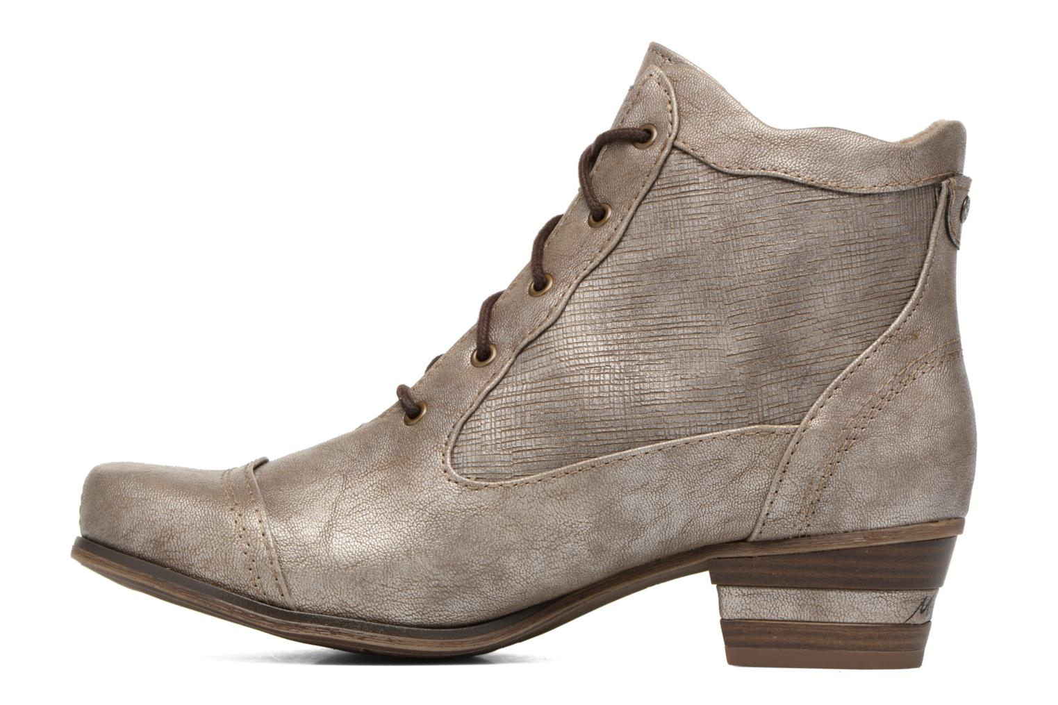 Ankle boots Mustang shoes Foltar Bronze and Gold front view