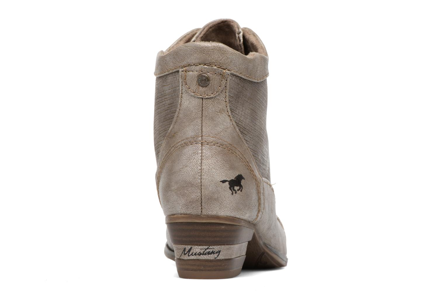 Ankle boots Mustang shoes Foltar Bronze and Gold view from the right