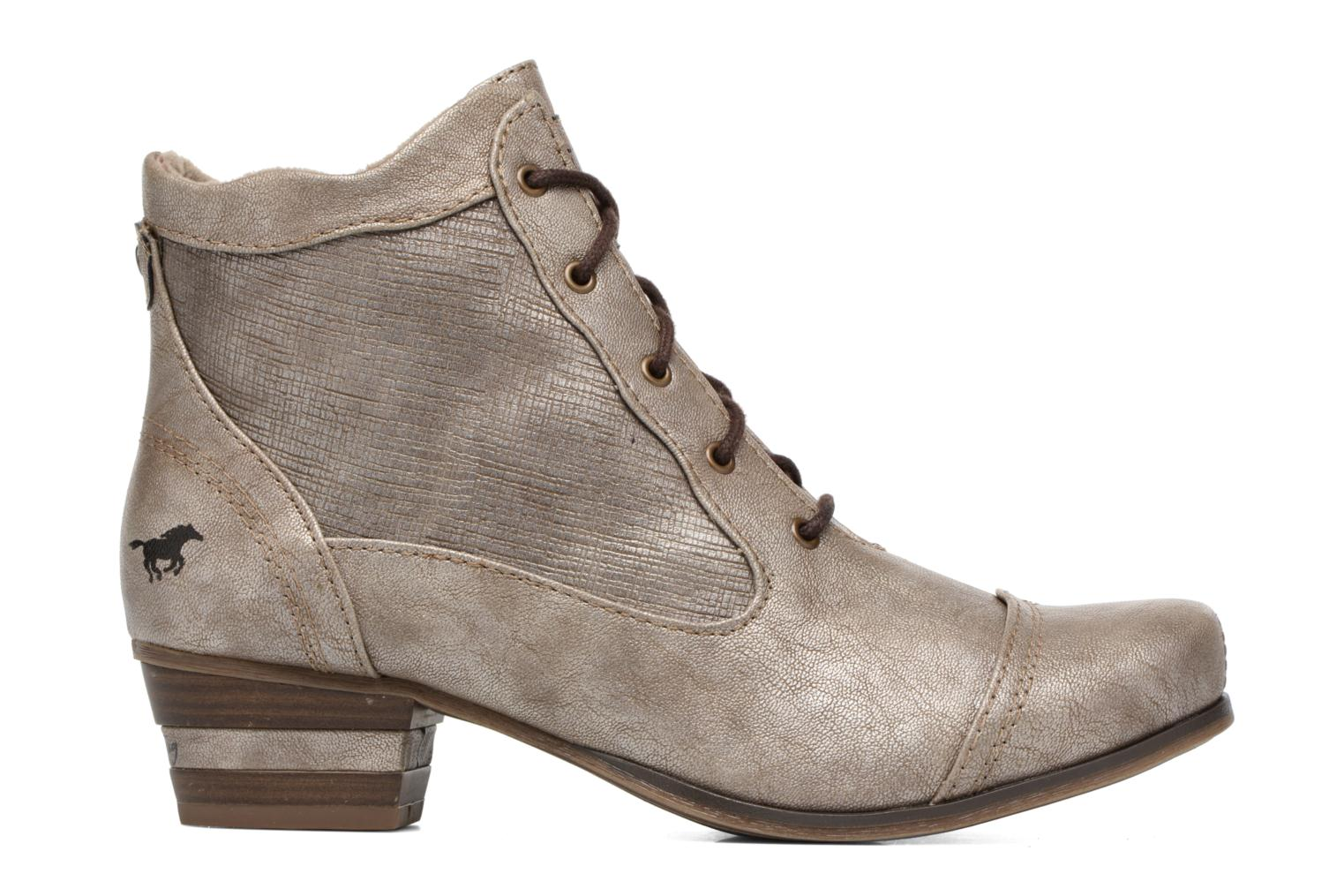 Ankle boots Mustang shoes Foltar Bronze and Gold back view
