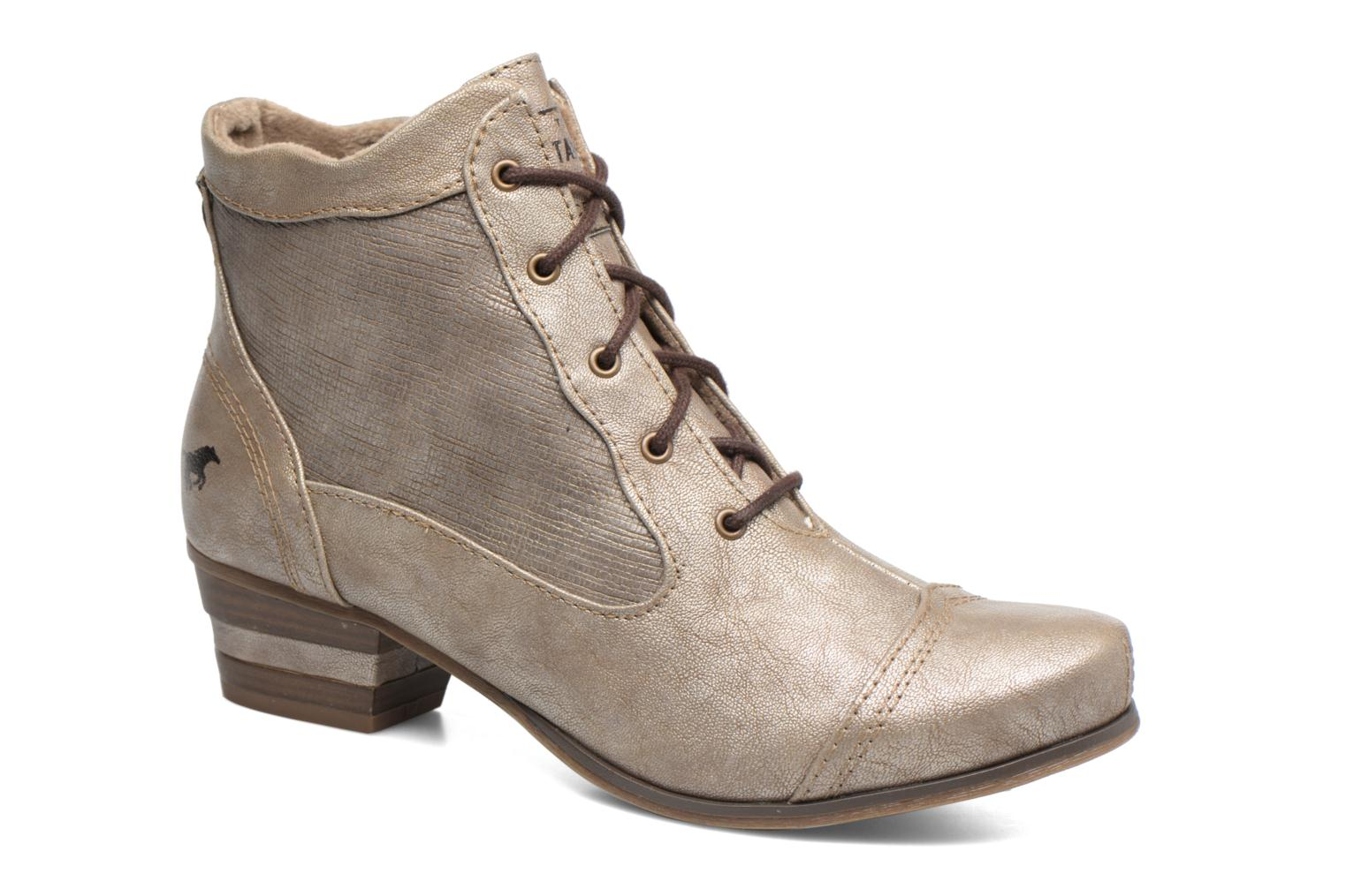 Ankle boots Mustang shoes Foltar Bronze and Gold detailed view/ Pair view