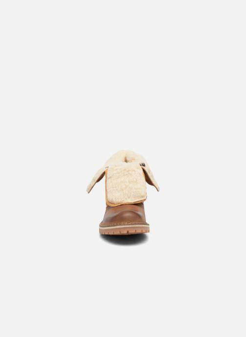 Bottines et boots Mustang shoes Guibaj Marron vue portées chaussures