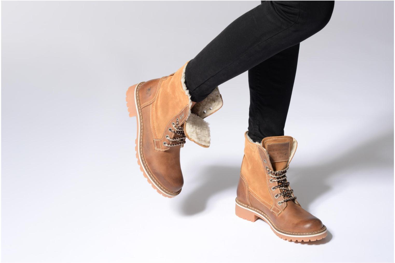 Bottines et boots Mustang shoes Guibaj Marron vue bas / vue portée sac