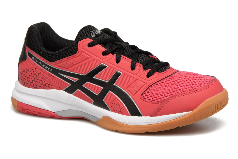 Chaussures de sport Asics Gel-Rocket 8 W Rouge vue détail/paire